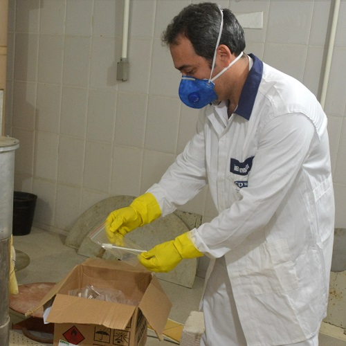 Esterilização de kit de coleta para teste de coronavírus